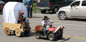 Horse and Carriage in Kiddies Parade
